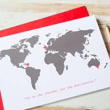 Large World Map Poster by Large Personalised World Map Card By Milly Inspired