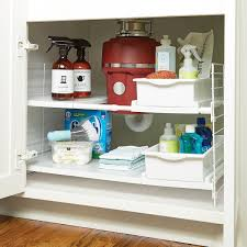 Bathroom Cabinet Organizer Iris Expandable Sink Organizer The Container Store