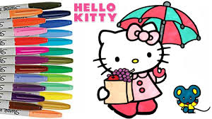 kitty friends coloring book color kids