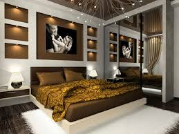 White Bedroom Brown Furniture Elegant Gold And White Bedroom Design With White Wall Bed Pillow