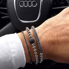 black bracelet men images Buy summer black plated bar beads bangles jpg
