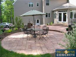 Dyed Concrete Patio by Dyes Stains U0026 Stamped Decorative Concrete Inc