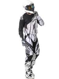 black motocross gear alpinestars black white grey 2015 techstar mx jersey alpinestars