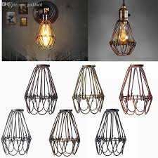 industrial cage light bulb cover wholesale retro vintage industrial l covers pendant trouble light
