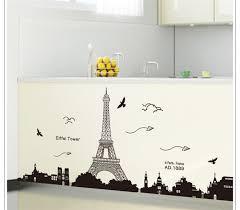 Eiffel Tower Room Decor Black Pvc Eiffel Tower Wall Stickers Wall Hangings Living Room