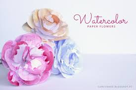 watercolor paper flower tutorial 9 best images of watercolor paper flowers watercolor paper flowers
