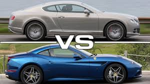 Ferrari California Grey - 2016 bentley continental gt speed vs 2016 ferrari california t