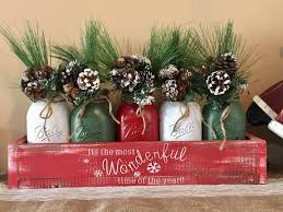 mason jar christmas centerpiece rustic mason jar christmas