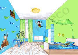 dessin chambre enfant chambre garcon theme pirate