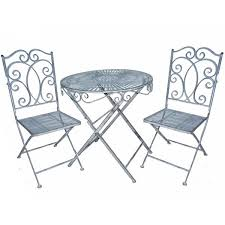 Grey Bistro Table Heritage Bistro Set Garden Table With Two Chairs Savvysurf Co Uk