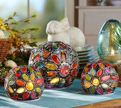 set of 3 kaleidoscope gem spheres by valerie page 1 u2014 qvc com