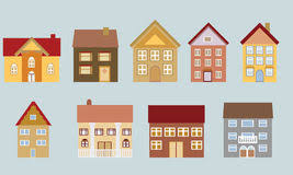 Different Styles Of Homes Neighborhood With Different Styles Of Houses Stock Vector Image
