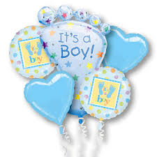 mylar balloon bouquet its a boy mylar party balloon bouquet inflated balloon shop nyc