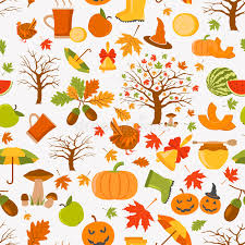 autumn seamless pattern and thanksgiving day flat de