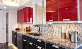 Red And White Kitchen Designs Modular Kitchen Designs Black And White Brown Ceramic Bar Top Pull
