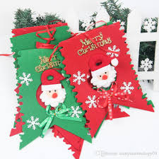 merry christmas decoration flags santa clause snowman flags