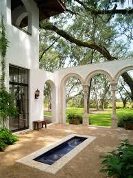 outdoor courtyard backyard spanish home outdoor decoration