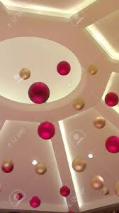 ornaments hanging in the ceiling stock photo picture