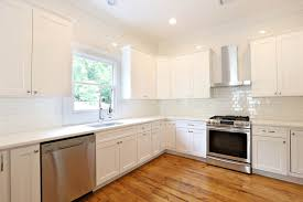 Kitchen Design Ideas White Cabinets Off White Cabinets White Subway Tile Large Kitchen Design With