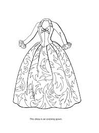 download printable barbie fashion clothes coloring page to print