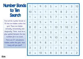 number bonds to 10 search by tesspecialneeds teaching resources