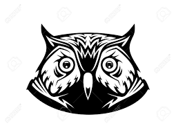 clipart owl black and white black and white vector illustration of the head a wise old owl