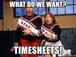 What Do We Want Meme Generator - what do we want timesheets cheerleaders meme generator