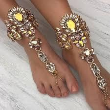 ankle bracelet from images Crystal studded boho ankle bracelets lilyvanity jpg