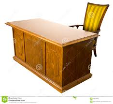 old business office desk and chair isolated royalty free stock