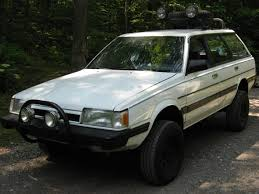 subaru outback lifted off road lifted 1987 subaru gl hatchback thediyguy