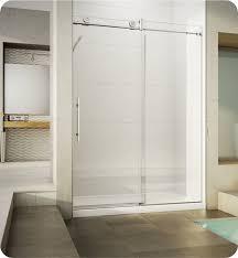 60 Shower Doors Fleurco Kn57 Kn Kinetik In Line 60 Sliding Shower Door And Fixed Panel