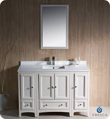 Fresca Oxford  Traditional Bathroom Vanity Antique White Finish - 48 white bathroom vanity cabinet
