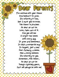 end of year poem to parents freebie by about teaching tpt