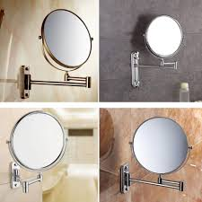 bathroom cabinets mirrors led extendable magnifying mirror