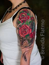 28 rose tattoos upper arm rose tattoo upper arm by john