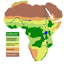 africa map deserts map of africa