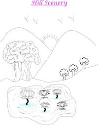 tropical beach coloring pages scenery coloring pages for kids scenery coloring pages printable