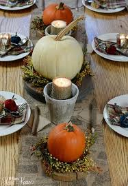 Simple Thanksgiving Table Settings Fall Tablescape All Things Heart And Home