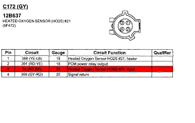 wiring diagram for oxygen sensor taurus car club of america