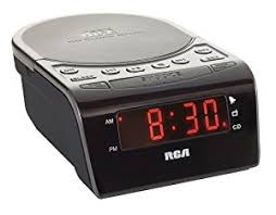 amazon com rca rc5610 cd clock radio with stereo speakers black