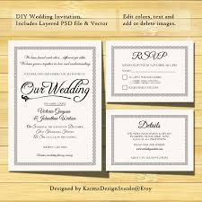 wedding invitations psd wedding invitation template instant printable