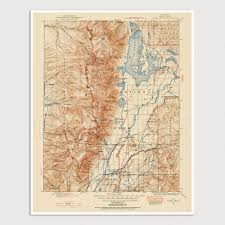 New Mexico Topographic Map by Usgs Topographic Map Of Grand Teton National Park 1899 U2013 Blue
