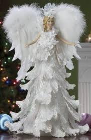 White Feather Christmas Decorations by White Feather And Pearl Angel Tree Topper Things I Made