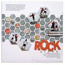 use geometric shapes on your scrapbook pages for interest