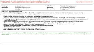 Supervisor Job Description Resume by Production Planning Supervisor Job Description Job Description