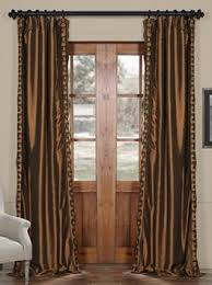 Faux Silk Embroidered Curtains Embroidered Faux Silk Curtains Patterned Faux Silk Curtains