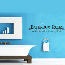impressive bathroom quote decal splish splash was taking bath full size bathroom rules wash brush floss flush quote wall decal