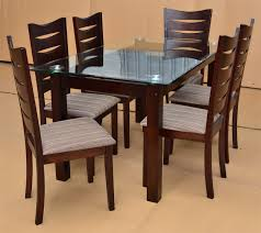 dining room stylish most comfortable glass table with wood base