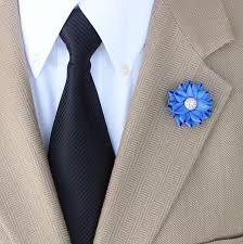 lapel flowers small lapel flower mens lapel flower royal blue lapel flower pin