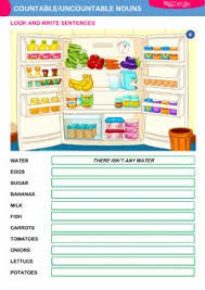 Count And Noncount Nouns Exercises Elementary Countable Uncountable Nouns Worksheet Grammar